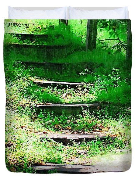 Duvet Cover featuring the photograph Stairway To Heaven by Donna Bentley