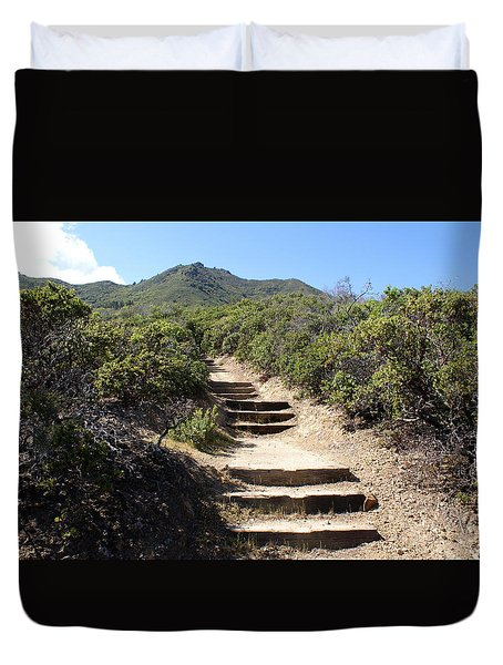 Stairway To Heaven On Mt Tamalpais Duvet Cover