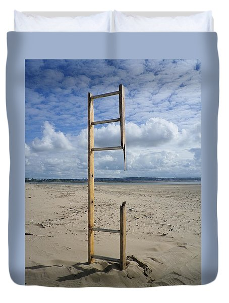 Stairway To Heaven Duvet Cover by Richard Brookes