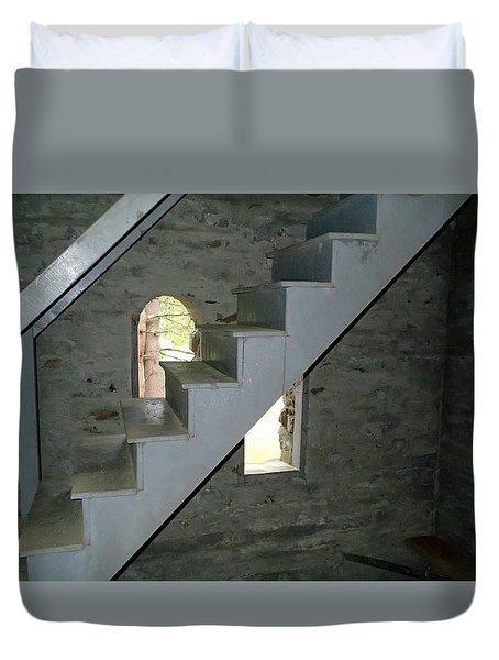 Stairway To The Bells Duvet Cover by Lois Lepisto