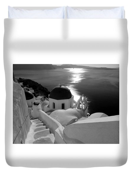 Stairway To The Church Duvet Cover