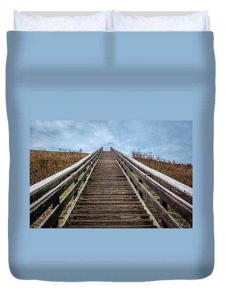 Stairway To The Sky Duvet Cover
