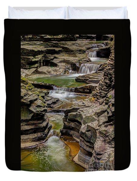 Stairway Waterfalls Duvet Cover