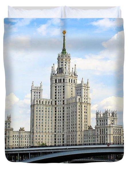 Kotelnicheskaya Embankment Building Duvet Cover