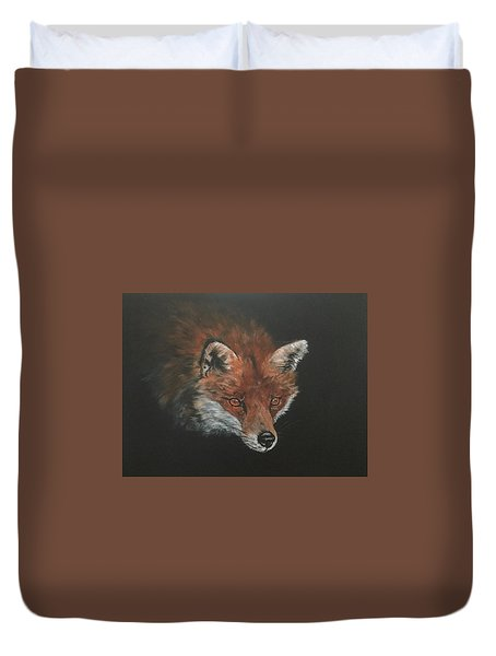 Red Fox In Stalking Mode Duvet Cover