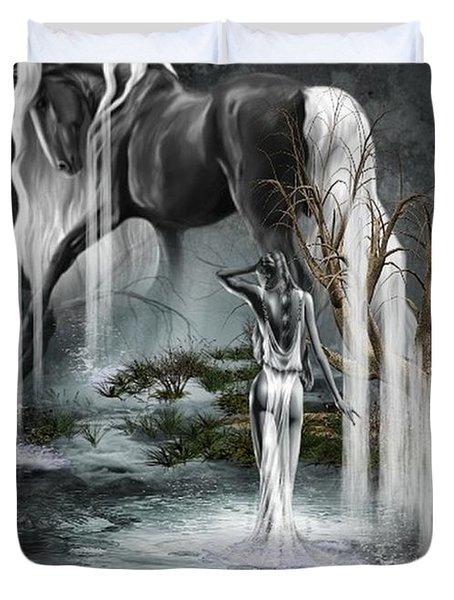 Stallion Falls Duvet Cover