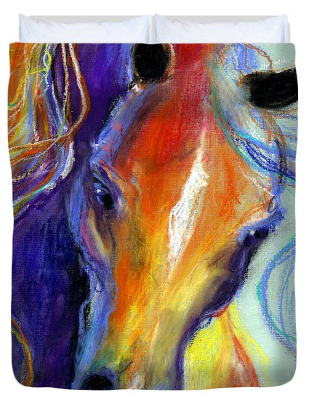 Stallion Horse Painting Duvet Cover