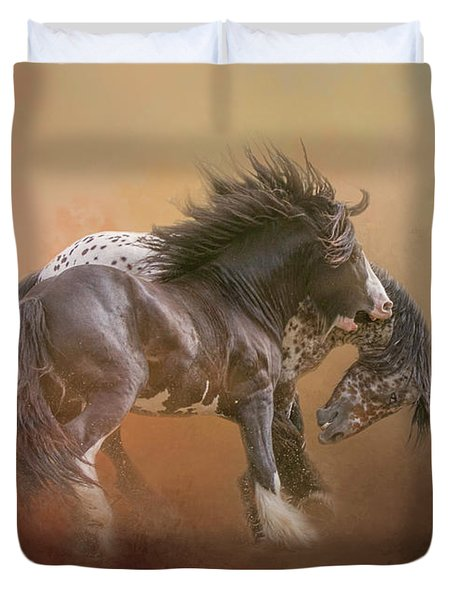 Stallion Play Duvet Cover
