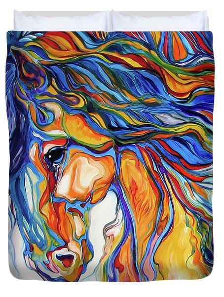 Stallion Southwest By M Baldwin Duvet Cover