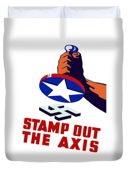 Stamp Out The Axis Duvet Cover by War Is Hell Store