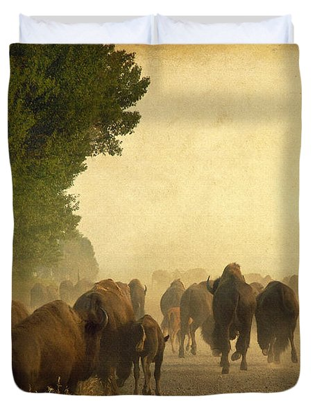 Stampede Duvet Cover by Teresa Zieba