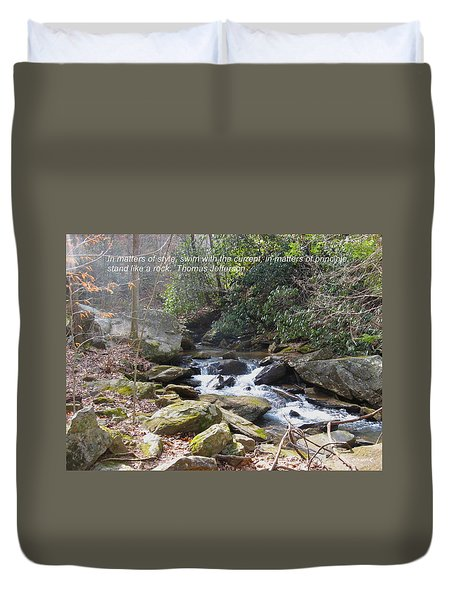 Stand Like A Rock Duvet Cover