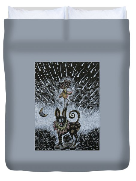 Stand On Me My Friend Duvet Cover