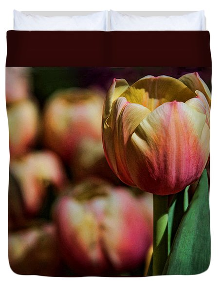 Duvet Cover featuring the photograph Stand Out by Tammy Espino