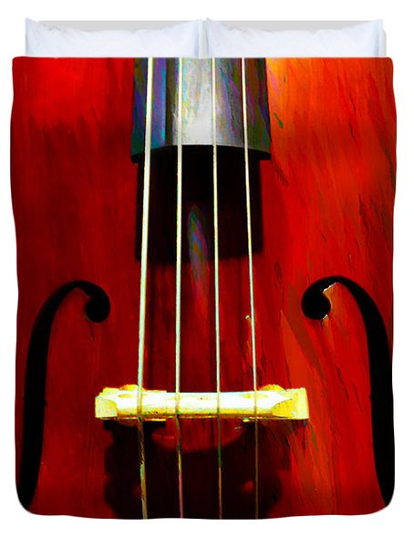 Stand Up Bass Duvet Cover by Bill Cannon