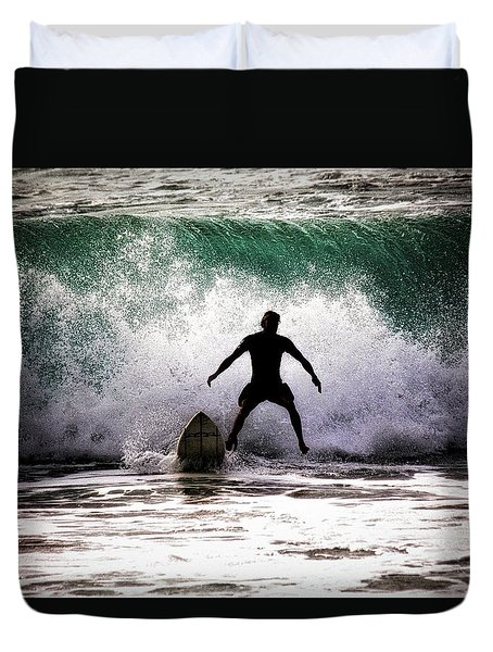 Standby Surfer Duvet Cover by Jim Albritton