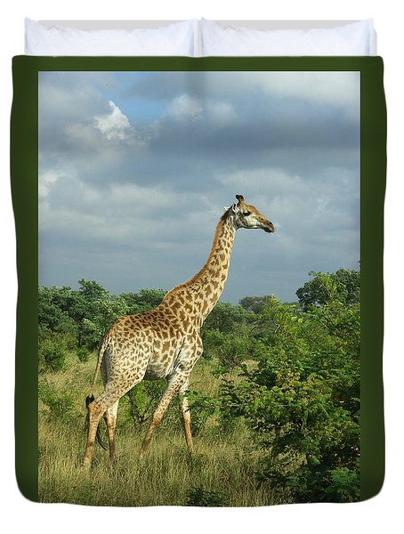Standing Alone - Giraffe Duvet Cover