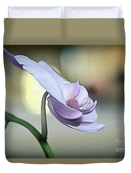 Standing Alone In Silence Duvet Cover by Diana Mary Sharpton