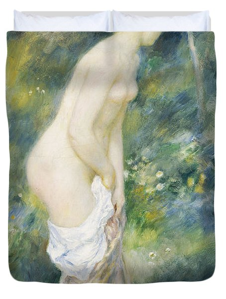 Standing Bather Duvet Cover by Pierre Auguste Renoir