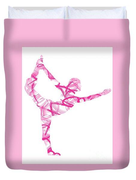 Yoga Pose Asana Standing Bow Pose Duvet Cover