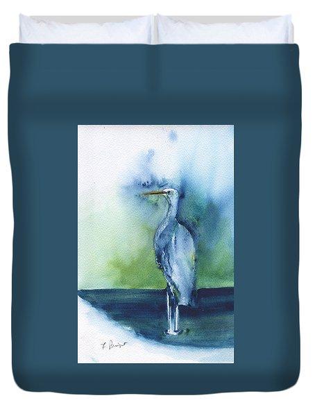 Standing Crane Duvet Cover