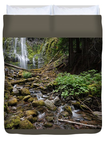 Standing Downstream Duvet Cover