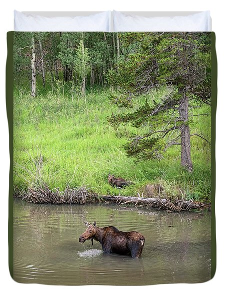 Duvet Cover featuring the photograph Standing Guard by James BO Insogna
