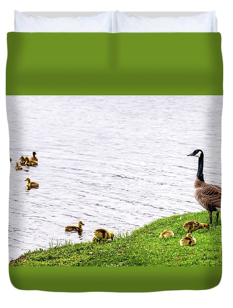 Duvet Cover featuring the photograph Standing Guard by Onyonet  Photo Studios