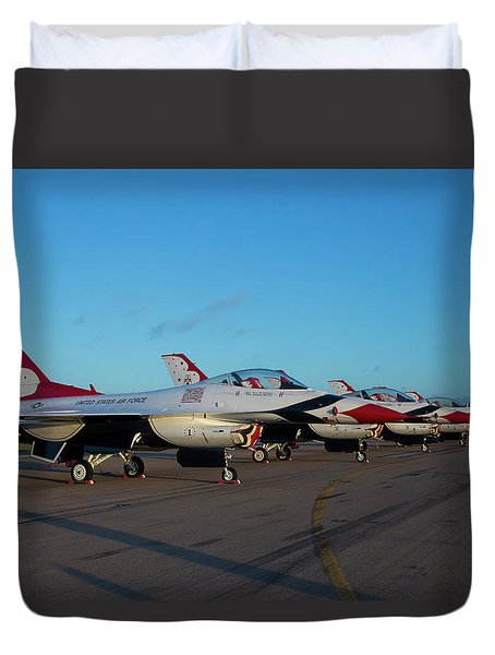 Standing In Formation Duvet Cover