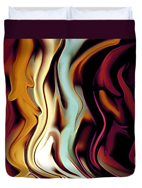 Standing In Line Duvet Cover by Linda  Parker