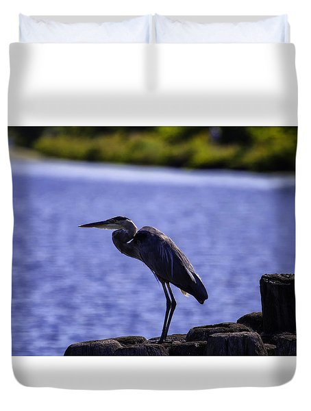 Standing On The Dock Of The Bay Duvet Cover