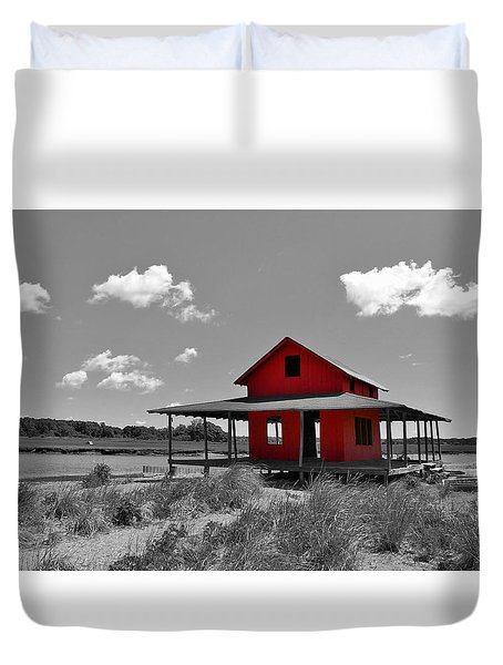Standing Out All Alone Duvet Cover