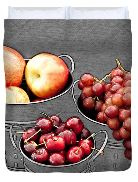 Duvet Cover featuring the photograph Standing Out As Fruit by Sherry Hallemeier