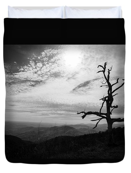 Duvet Cover featuring the photograph Standing by Ross Henton