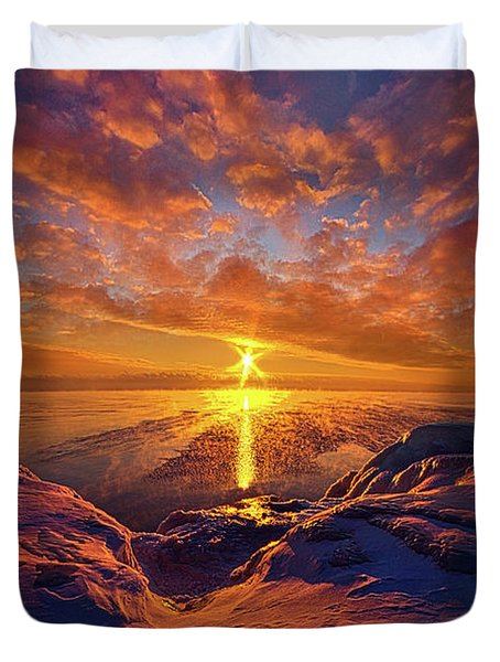 Duvet Cover featuring the photograph Standing Stilled by Phil Koch