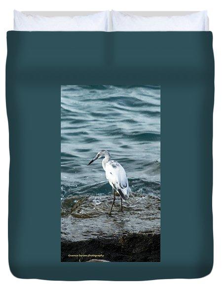 Standing Tall Heron Duvet Cover