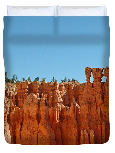 Standing Tall In Bryce Canyon Duvet Cover