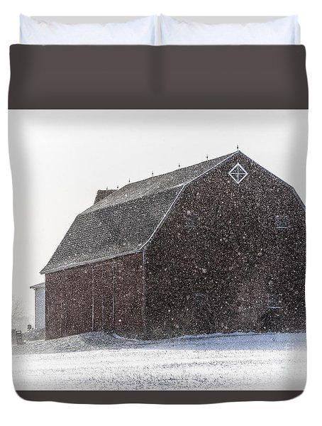 Standing Tall In The Snow Duvet Cover