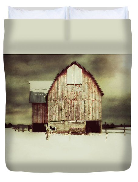 Duvet Cover featuring the photograph Standing Tall by Julie Hamilton