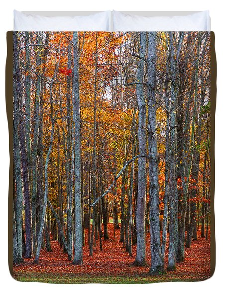 Standing Tall On The Natchez Trace Duvet Cover