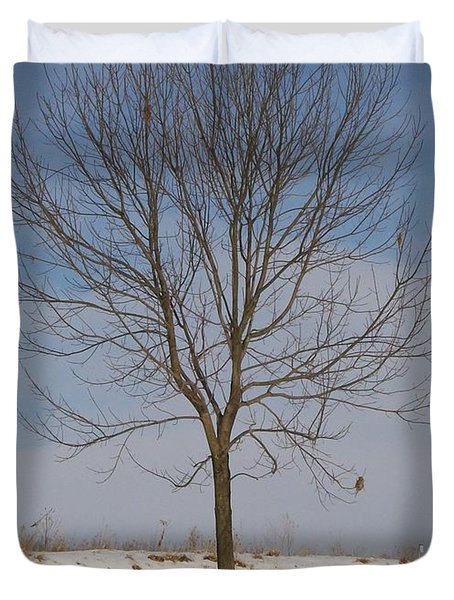 Duvet Cover featuring the photograph Standing Tall by Sara  Raber