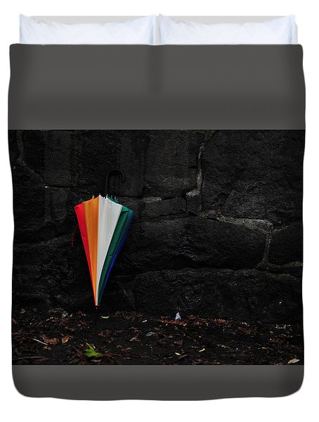 Standing Umbrella Duvet Cover