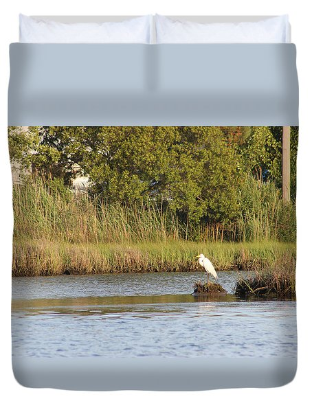 Duvet Cover featuring the photograph Standing Watch by Robert Banach