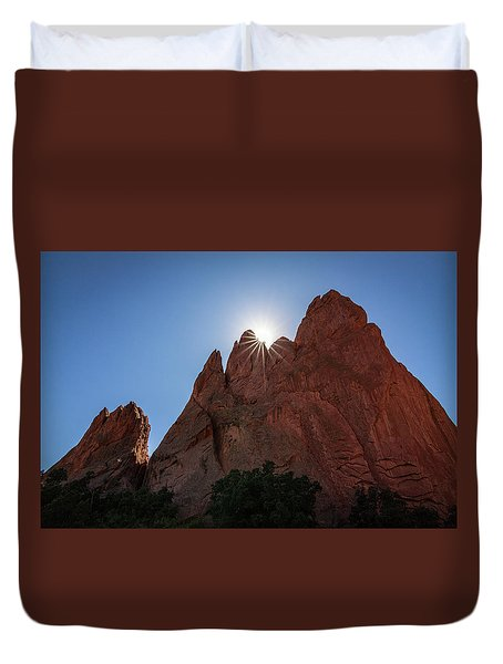 Standstone Sunburst - Garden Of The Gods Colorado Duvet Cover