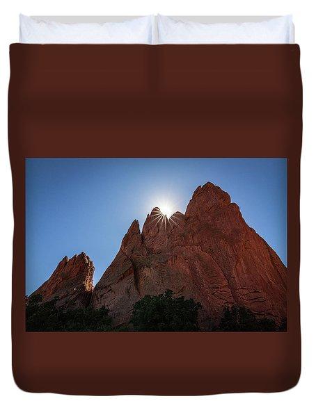 Standstone Sunburst - Garden Of The Gods Colorado Duvet Cover