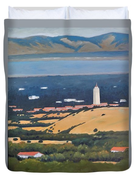 Stanford From Hills Duvet Cover by Gary Coleman