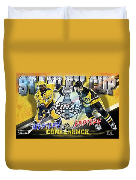 Stanley Cup 2017 Duvet Cover by Don Olea