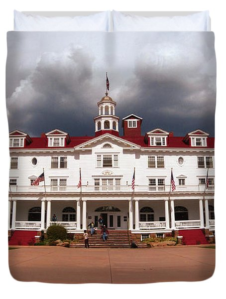 Stanley Hotel - Estes Park Colorado Duvet Cover by Donna Greene