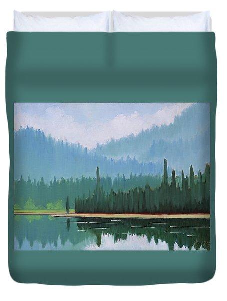 Stanley Lake - Far Shore Duvet Cover