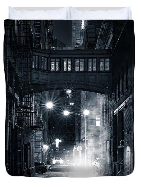 Staple Street Skybridge By Night Duvet Cover